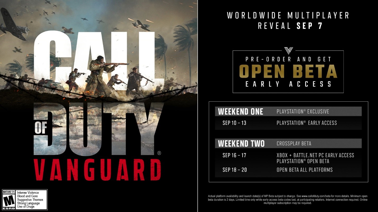 Worldwide Multiplayer Reveal September 7, Pre-order and get Open BETA Early Access
